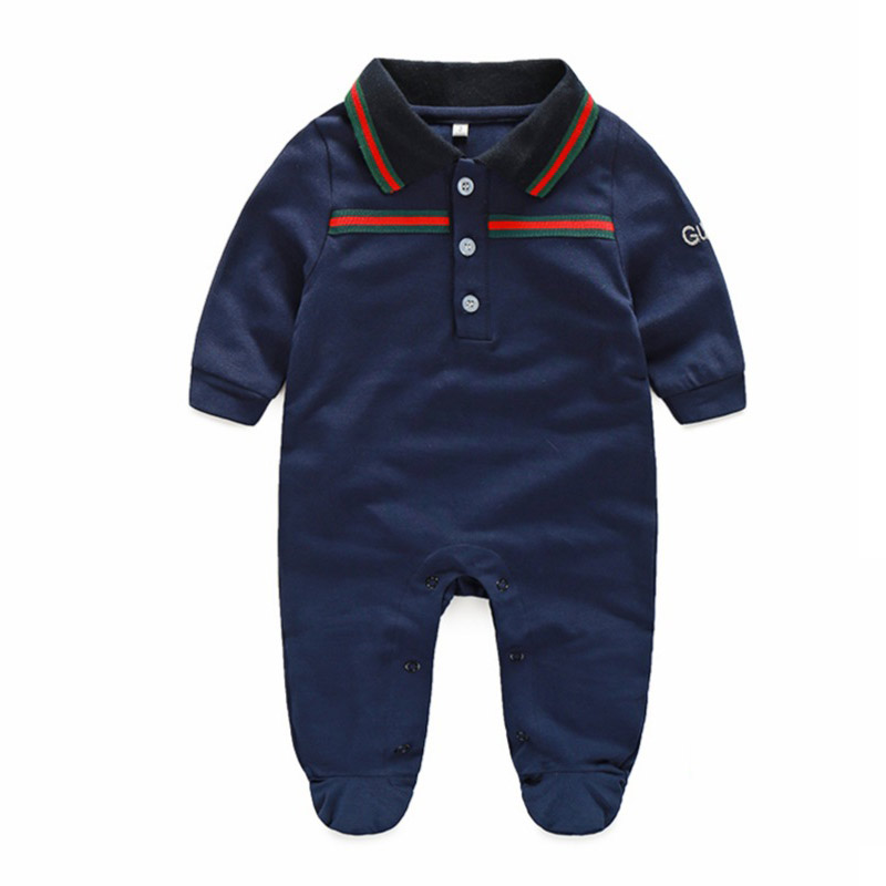 2018 Autumn Newborn Baby Clothes Cotton Romper for Infant Boys Baby Suit Hat 2Pcs Good Quality Comfort Baby Clothing Sets good quality and fast delivery baby activity product strollers for twin suit for 0 36 months baby boys and girls many colors