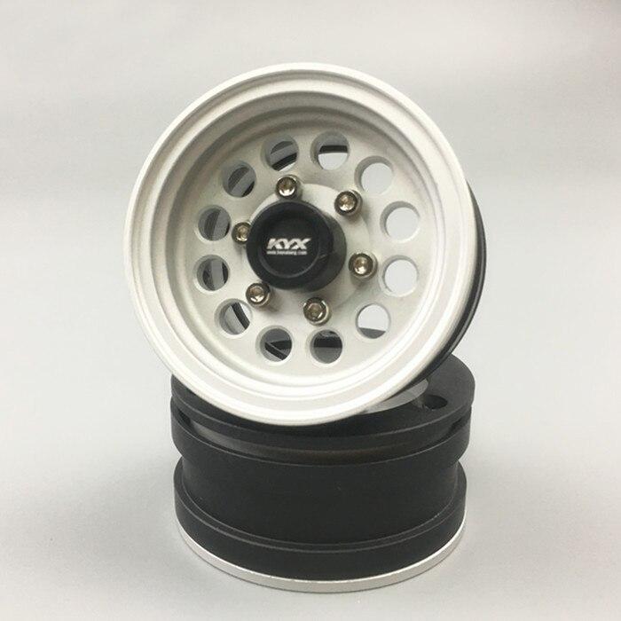 1PCS Simulation Wheel Rim 1.5inch 46mm Diameter Wheel Hub Aluminum Alloy Wheel Tyre for 1:10 Rock Crawler Climbing Car Modified