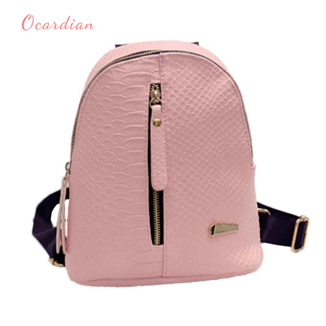 715c21b33d OCARDIAN mochila Women Leather Backpacks Schoolbags Travel Shoulder Bag  Made in China  30 2018 Gift