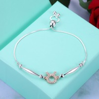 HERMOSA jewelry New 12 constellation series Elegant and lovely 925 sterling silver Taurus adjustable Bracelet SVH082