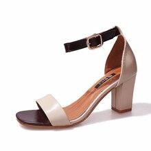 цена на Womens Summer Gladiator Sandals Fashion High Heels Pumps Shoes Woman Sexy Party Retro Sandals Rome Luxury Design High Quality