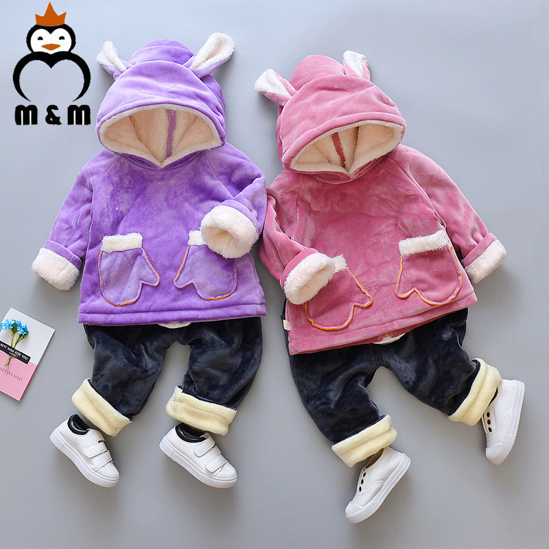 Kids Parkas Costume 2018 Winter 0-3Y Baby Boys Cotton Long-Sleeved Jacket Children Hooded Outerwear Clothes Warm Clothing