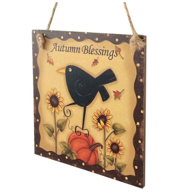 Thanksgiving Wooden Hanging Plaque Sign Thanksgiving Party Door ...