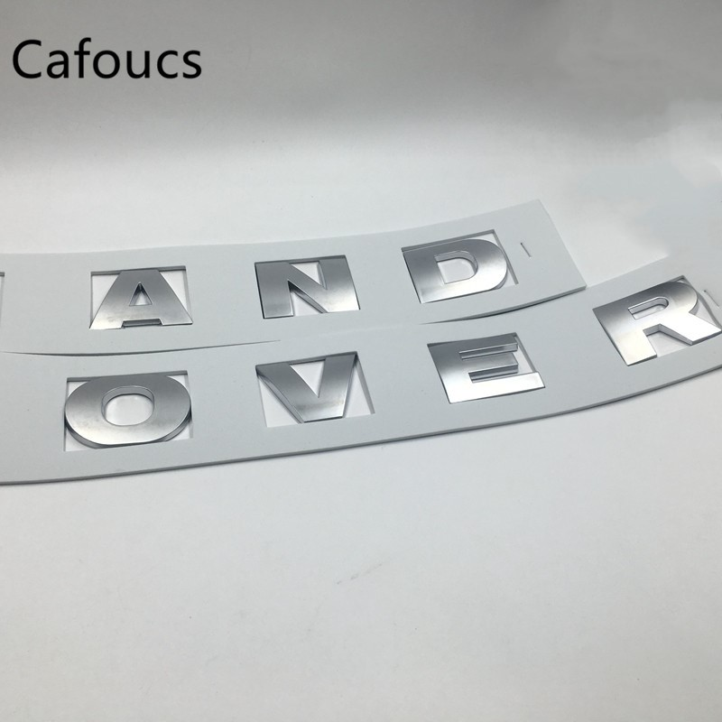 цены Cafoucs For Land Rover Emblems front Head Hood Logo Rear Trunk Tailgate Badge Letters Decals