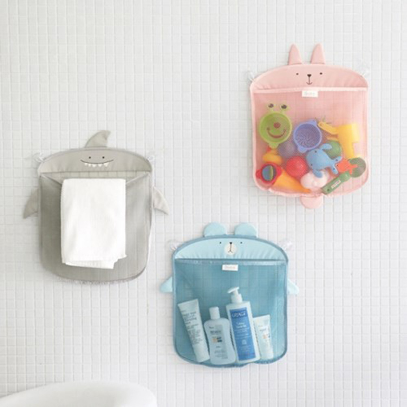 1pc Baby Bathroom Mesh Bag Child Bath Toy Bag Net Suction Cup ...