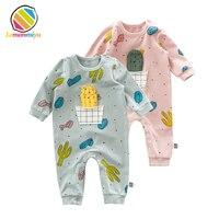 Lemonmiyu Cotton Toddler Pajamas Four Season Print Newborn Sleeper Candy Dot Baby Romper Long Sleeve Jumpsuits