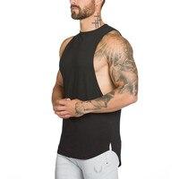 2017 Brand Gyms Mens T Shirts Summer Cotton Slim Fit Men Tank Tops Clothing Bodybuilding