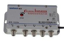 220 فولت 4 طريقة CATV كابل التلفزيون مكبر صوت أحادي أمبير معزز هوائي الفاصل مجموعة برودباند الرئيسية التلفزيون معدات 20DB 45MHz ~ 880MHz