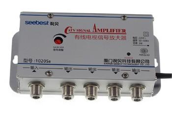 220V 4 Way CATV kabel TV wzmacniacz sygnału wzmacniacz anteny Splitter zestaw szerokopasmowy sprzęt Tv domu 20DB 45MHz ~ 880MHz tanie i dobre opinie TCXRE 45-880MHz Signal Amplifier Booster