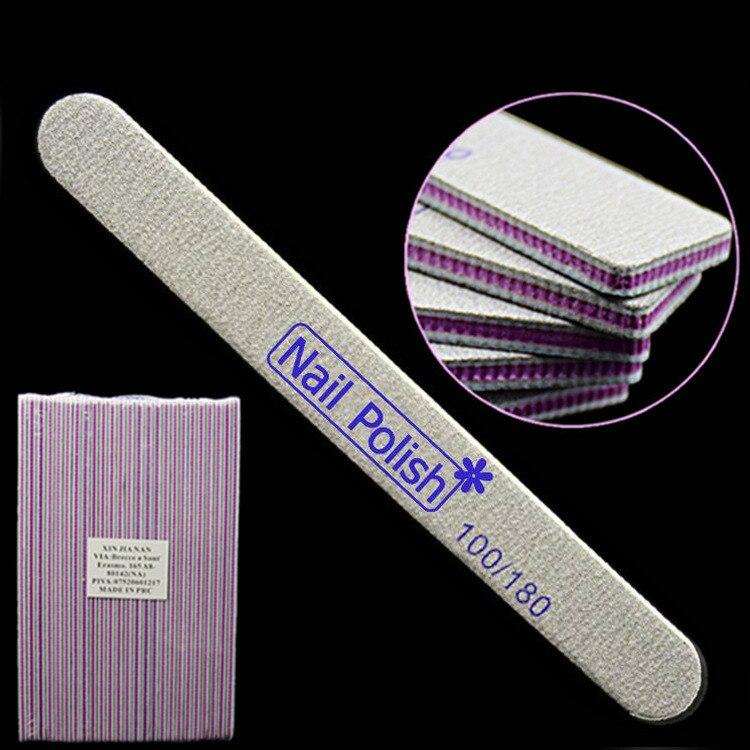Печать логотипа 5000 шт. EVA Маникюр буфера 100/180 изогнутые Полумесяца Suquare пилочка для ногтей буфера польский шлифовальный инструмент