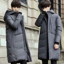 купить b plus size 3XL New Winter Jackets Men Casual Mid Long Thick Winter Coat Men Solid Hooded Parka Male Clothes Overcoat Outerwear дешево