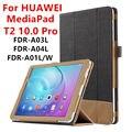 Case Для Huawei MediaPad T2 10.0 Pro Защитные Смарт обложка Искусственного Кожаный Планшет Для HUAWEI Youth FDR-A01L/W/A03L/04 PU Protector