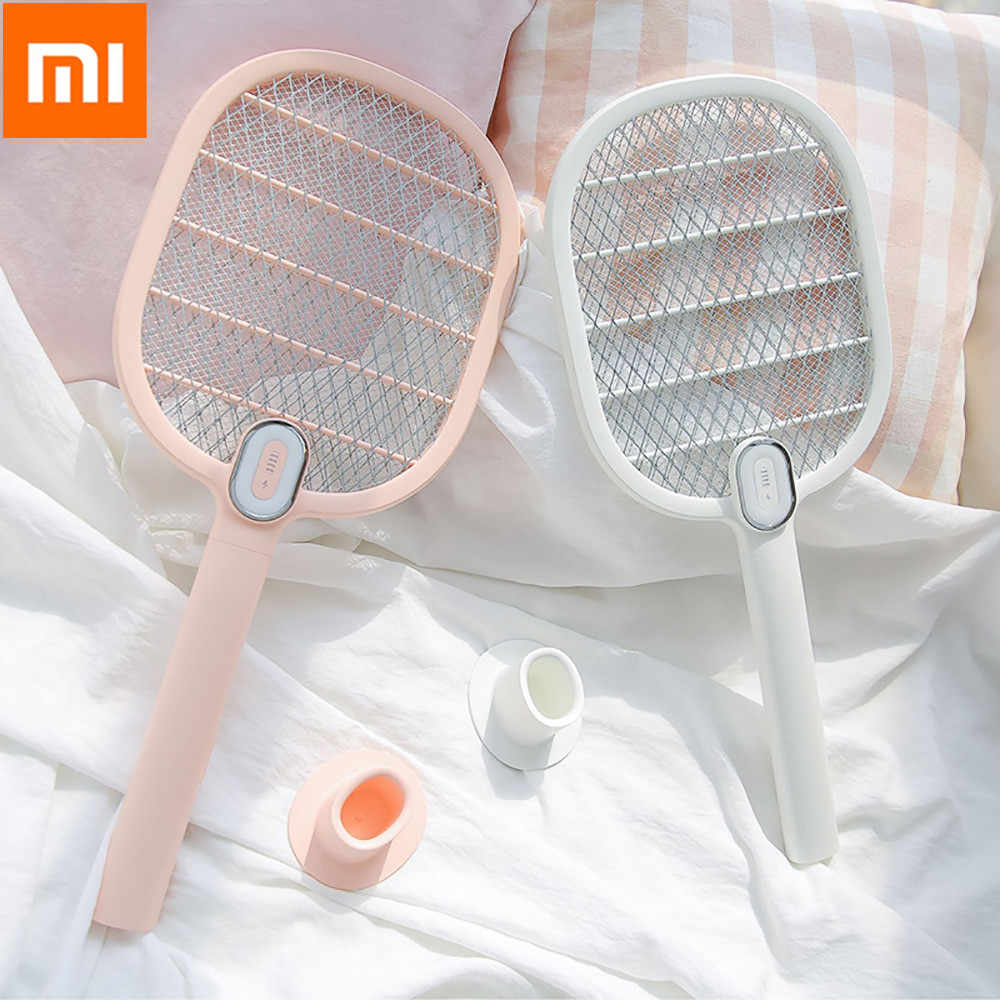 Novo Xiaomi Mijia 3 Vida Elétrica Assassino Do Mosquito Swatter Portátil Handheld Bug Insect Fly Mosquito Zapper Swatter Assassino Racket