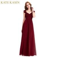 Real Photo Bodenlangen Lange Abendkleider Kleider Lang Elegante Partei Kleid Formal Gown Red Burgund Abendkleid ST79