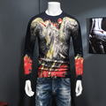Winter Sweater Men Fashion 2016 New Thicken Knitted Pullover Men Long Sleeve Slim Fit Flying Horse Print Men's Sweaters 4XL-M