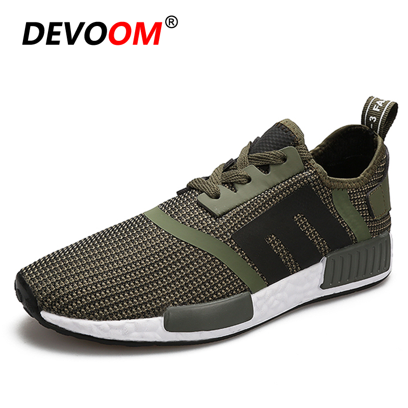 0b9db5c1a25 2018 Fashion Light Flying Knit Casual Shoes Men Summer Breathable Black  Mesh Shoes for Man Soft OutSole Big Plus Size EU 39 46-in Men s Casual Shoes  from ...