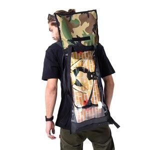 Image 4 - Frete grátis nova oxford tecido duplo rocker sacos de skate amantes mochila sacos estudantes preto sacos de skate
