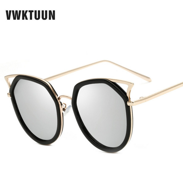 VWKTUUN Surdimensionné lunettes de Soleil Hommes Femmes Lunette Oculos Sexy  Chat Yeux Lunettes En Plein Air 342b7b4c6dfb