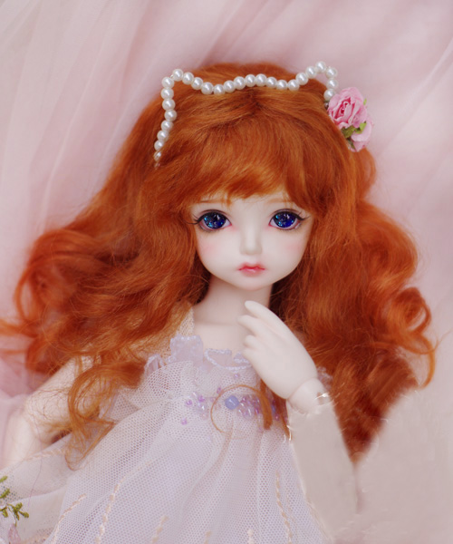 BJD doll wigs radish red Mohair wigs for 1/3 1/4 1/6 1/8 1/12 BJD DD SD MSD YOSD doll long curly hair wigs doll accessories jd031 1 8 1 6 1 4 long curly wig 5 6inch 6 7inch and 7 8inch synthetic mohair wig for bjd doll yosd msd doll accessories
