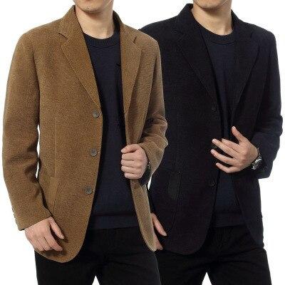 Printemps automne hommes coton velours côtelé Blazers mâle élégant Slim Fit fête Blazers grande taille velours côtelé coupe-vent costume A72503