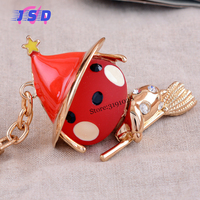 Cute Witch Car Key Chain Ring Auto Pendants Keychain Keyring Gift For Mitsubishi Toyota Subaru Fiat
