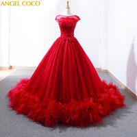 Robe De Soiree Fashion Lace Beading Sexy Long train Evening Dresses Bride Banquet Elegant Party Prom Gown Abendkleider Kaftan