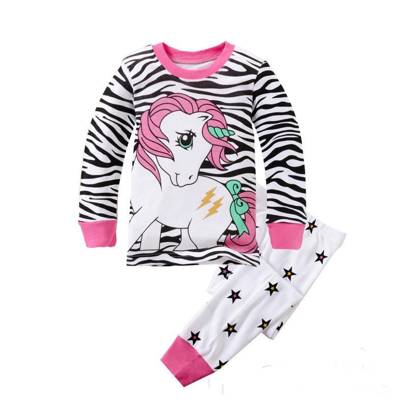 Kids Girls Clothes Set Children girls Clothes Baby Girl Sleepwear Long Sleeve Leisure Wear Toddle Cute Cartoon Pajamas suit