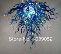 2014 Горячая Распродажа Современная Синяя светодиодная художественная стеклянная люстра