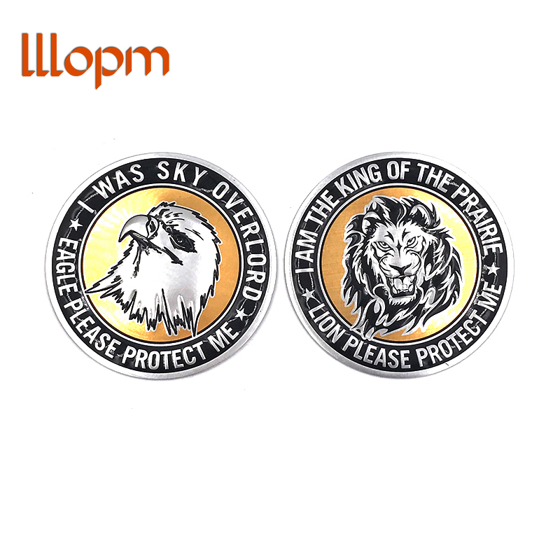 1pcs 3D Universal Car Styling Lion Eagle Sticker Logo Emblem Badge Decal For Ford For Mazda For Motorcycle Car Accessories