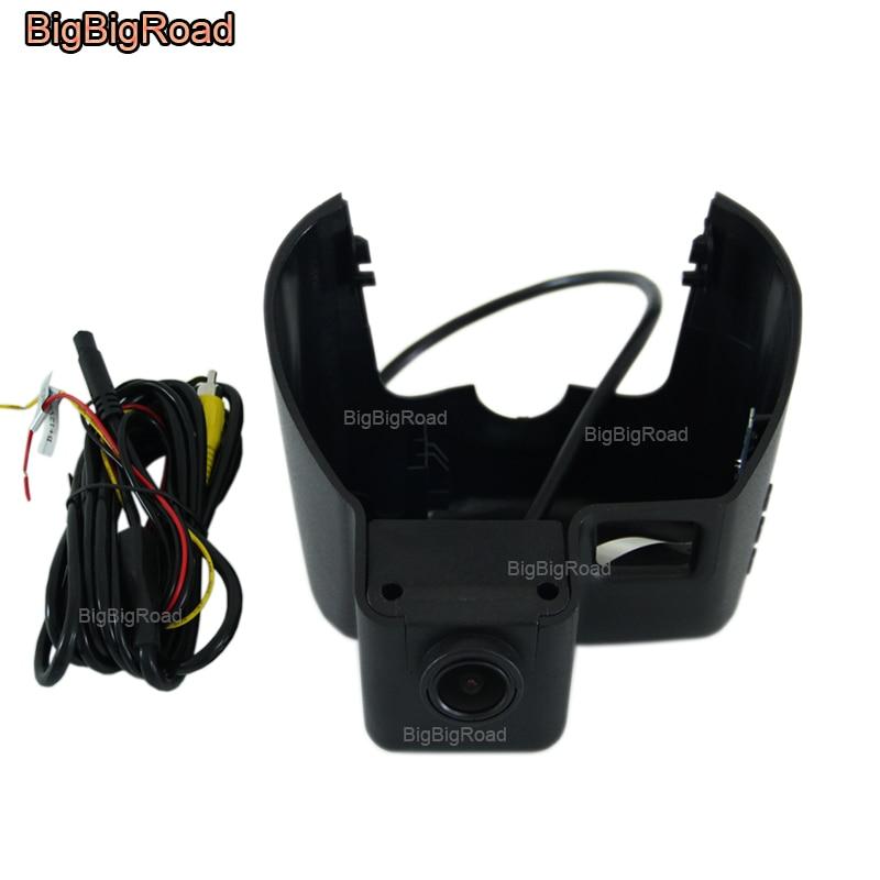 BigBigRoad Car Video Recorder Wifi DVR Dash Cam Dual Camera Lens For Jeep Grand Cherokee 2011