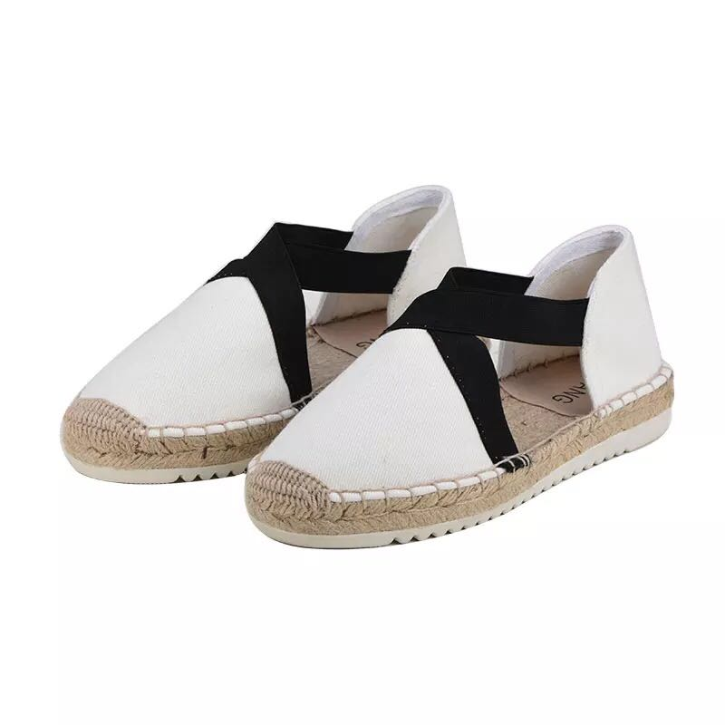 Women Canvas Espadrille Flats Hemp Bottom Fisherman Shoes For 2018 Spring/Autumn Women Loafers цены онлайн