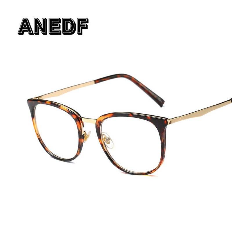 b0713771ad ... ANEDF Nuevo 2018 gafas de ojo óptico Vintage para mujer marco de Metal  ovalado gafas Unisex ...