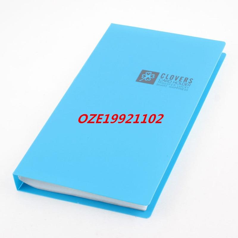 1 StÜcke Notebook Geformt 120 Slots Kapazität Visitenkarte Halter Blau Attraktiv Und Langlebig