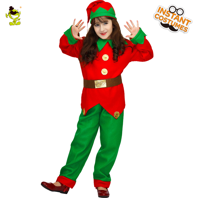 Hot sale Santa Claus Kids girl Uniform Christmas costumes Santa Claus for kids girl Uniform Xmas costume 4T 7T 10T