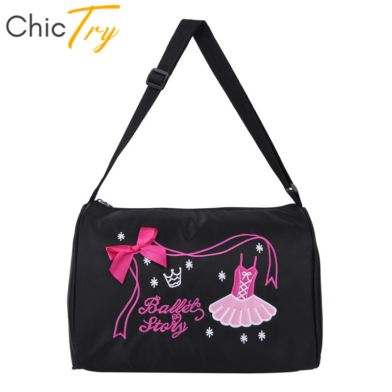 Chictry Hand-Bag Ballet-Dance-Bags School Gym Girls Kids Children Sports with Zipper