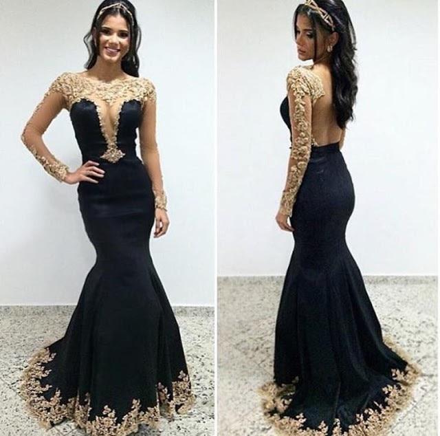 Modest Floor Length Black Dresses