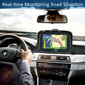 Image 4 - Fodsports ipx7 waterproof motorcycle navigation 5 inch car GPS wifi 16G motorbike navigator android 6.0 FM 3000mAh battery