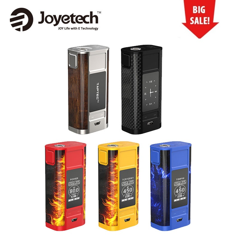 все цены на 100% Original 228W Joyetech Cuboid TAP Box Mod for ProCore Aries Tank Dual Circuit Protection No 18650 Battery Box Mod Vs Cylon