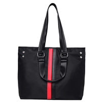 KEYTREND New Spring Fashion Women Casual Canvas Nylon Oxford Contrast Shoulder Handbags Ladies Casual Tote Large