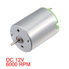 Uxcell(R) Hot Sale 1pcs Small Motor DC 12V 6000 RPM High Speed Motor for DIY Hobby Toy Cars Remote Control(China)