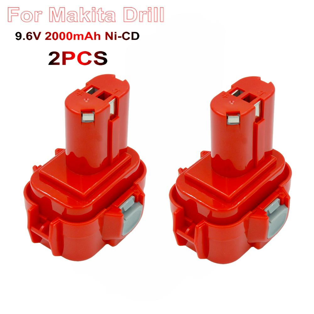 2PCS PA09 Power Tools Rechargeable Replacement <font><b>Battery</b></font> 2000mAh Ni-CD for <font><b>Makita</b></font> <font><b>9.6V</b></font> <font><b>Battery</b></font> 9100 9122 9134 9135 <font><b>9120</b></font> Bateria image