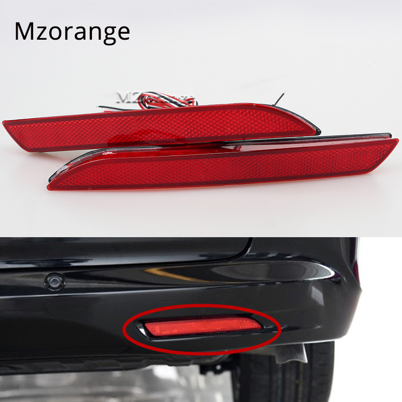 2PCS LED Rear Bumper Lamp Brake Light Reflector For Honda