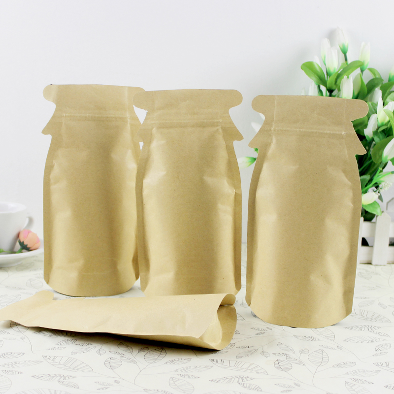 12cm 23cm 4 New Design Penguin Food Whole Grains Ng Bags Kraft Paper Sealing Damp Proof Stand Up Pouches 50pcs In Baskets From Home Garden On