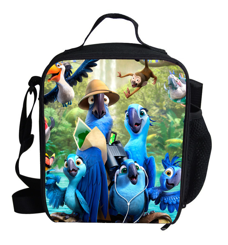 Popular Christmas Gifts For Kids Lunch Bag RIO Blu and Jewel Scarlet Macaw Lunch Bag Thermal Insulated For Children School