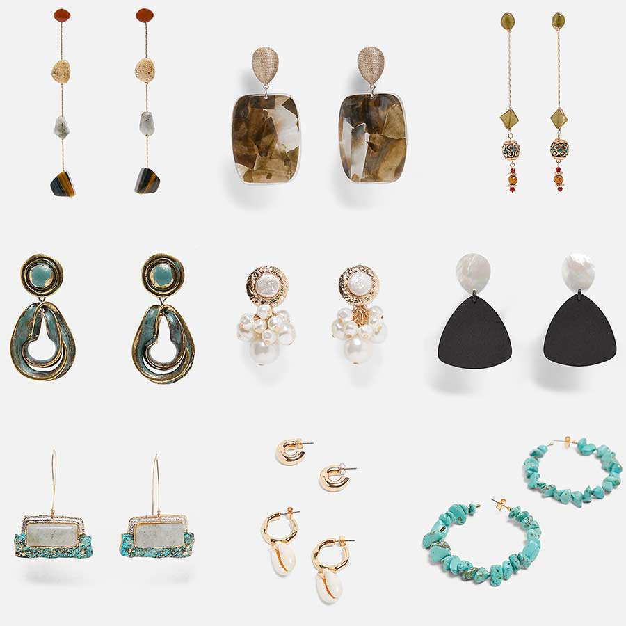 Dvacaman ZA Coral Dangle Drop Earrings Women Fashion Statement Earrings Wedding Party Hanging Earrings Jewelry Wholesale Gifts