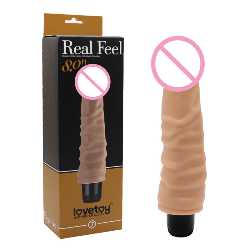 Lovetoy 19.7*3.8cm Real Feel Realistic Penis Vibrator Big Cock Adult Sex Toys Vibrating Dildo For Women Sex Products LV1007