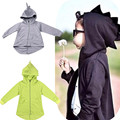 2017 Spring Autumn Boys Jacket Fashion Cotton Kids Coat Cartoon Baby Clothes black Gray hoodied outwear  For Toddler Boys Girls