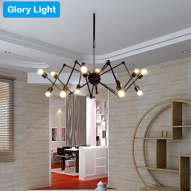 modern suspension spider pendant light with 6