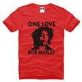 Reggae Bob Marley ONE LOVE Music Homens T Tshirt da Camisa Dos Homens 2016 Manga Curta O Pescoço de Algodão T-shirt Casual Tee Camisetas Hombre