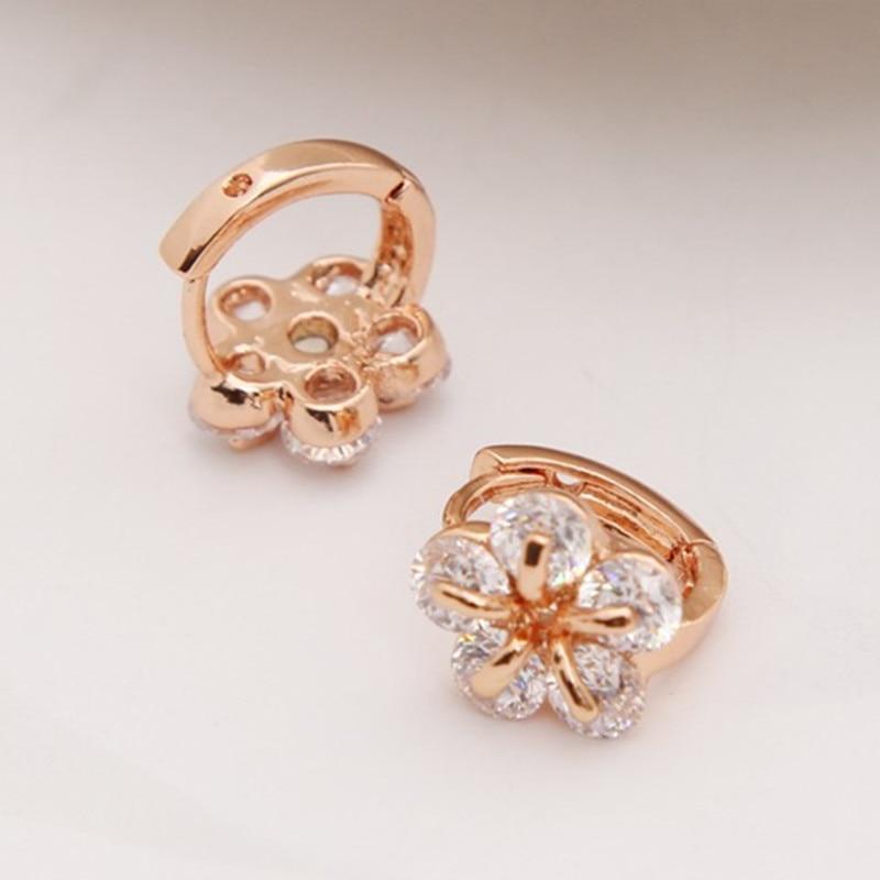 ZOSHI Brand Vintage Gold Hoop Earrings Wedding ear Jewelry Earrings for Women Wholesale Clear CZ Crystal Earring brincos